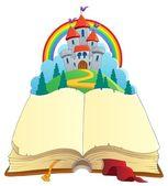 Image de conte de fées livre thème 1 — Vecteur