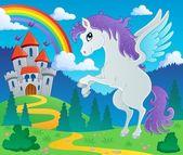 Fairy tale pegasus theme image 2 — Stock Vector