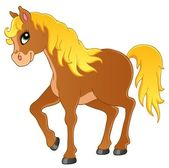 Horse theme image 1 — Stock Vector
