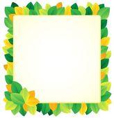 Leafy theme frame 1 — Stock Vector