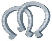 Pair of horse shoes — Stock Vector