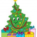 Christmas tree theme 1 — Stock Vector