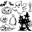 Vector de stock : Halloween drawings collection 1