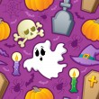 Halloween seamless background 3 — Imagen vectorial