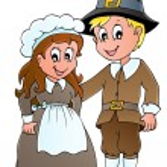 Thanksgiving pilgrim theme 1 — Stock Vector