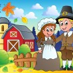 Thanksgiving pilgrim theme 2 — Stock Vector
