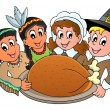 Thanksgiving pilgrim thema 3 — Stockvector