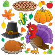 Thanksgiving theme collection 1 — Stock Vector