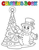 Coloring book Christmas thematics 1 — Vecteur