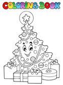 Colorear libro navidad tematicas 2 — Vector de stock