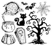 Halloween drawings collection 2 — Stock Vector