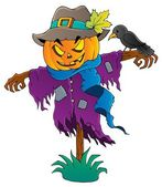 Halloween scarecrow theme image 1 — Stock Vector