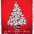 Christmas tree stylized drawing 2 — Stock Vector #13778510