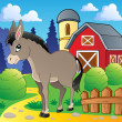 Donkey theme image 2 - Stock Vector