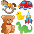 Various toys collection 1 — Stock Vector