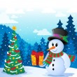Royalty-Free Stock Vector Image: Winter snowman theme image 5