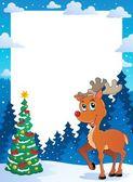 Christmas theme frame 5 — Stock Vector