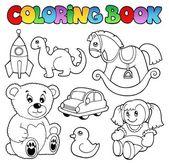 Coloring book toys theme 1 — Stock Vector