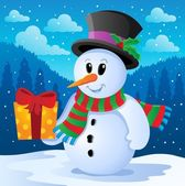 Winter snowman theme image 4 — Stock Vector