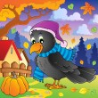 Stock Vector: Cartoon raven theme image 2