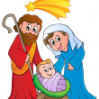Royalty-Free Stock Vector Image: Christmas Nativity scene 1