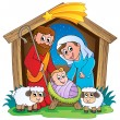 Stock Vector: Christmas Nativity scene 2