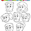 Coloring book family collection 3 — Stock Vector #14589291