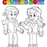 Coloring book kids theme 1 — Stock Vector #14589305