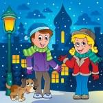 Winter person cartoon image 3 — Stock Vector #14589753