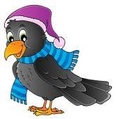 Cartoon raven theme image 1 — Stock Vector