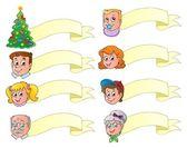 Christmas banners theme set 1 — Stock Vector