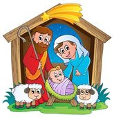Christmas Nativity scene 2 — Stockvektor