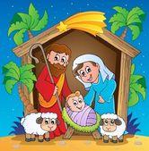 Christmas Nativity scene 3 — Stock Vector