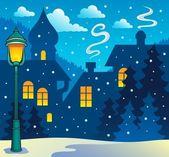冬の町のテーマの画像 3 — ストックベクタ