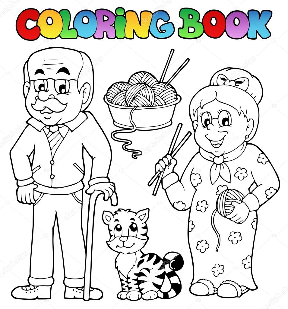 Coloring book family collection 2 - vector illustration.  Stock Vector #14589281