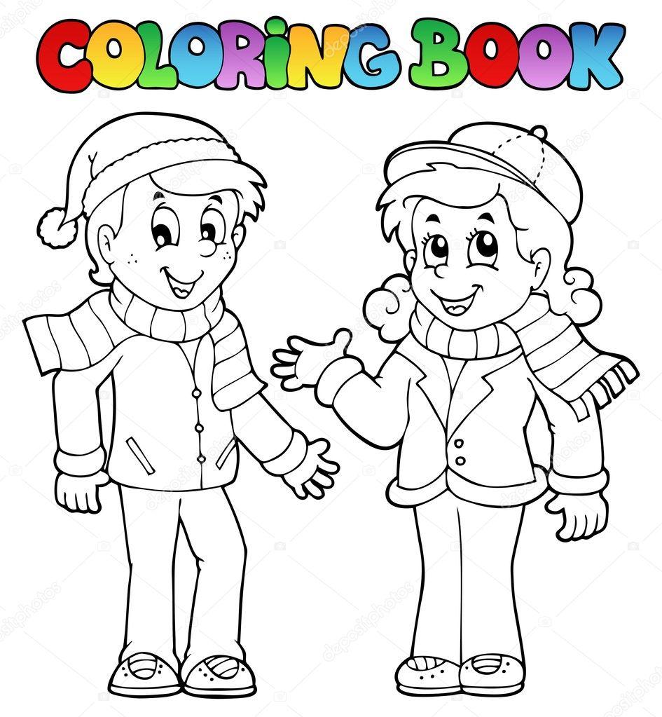 Раскраска мальчик для малышей