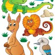 Australian wildlife fauna set 2 - Stockvektor