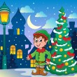 Christmas elf theme 2 — Stock Vector