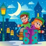 Christmas elf theme 4 — Stock Vector