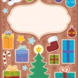 Christmas topic composition 1 — Stock Vector