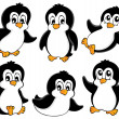 Cute penguins collection 1 — Stockvektor  #15655625