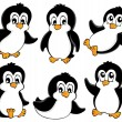 Cute penguins collection 1 — Stock Vector #15655625