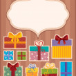 Image with gift theme 3 — Stock Vector