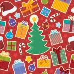 Seamless background Christmas 1 — Stock Vector