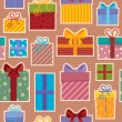 Stock Vector: Seamless background gift theme 3