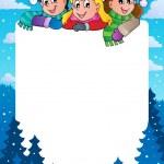 冬季主题框架 1 — 图库矢量图片