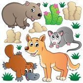 Australian wildlife fauna set 1 — Stock Vector