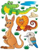 Australian wildlife fauna set 2 — Stock Vector