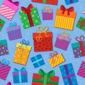 Seamless background gift theme 2 — Stock Vector