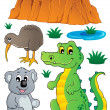 Royalty-Free Stock Vector Image: Australian wildlife fauna set 3